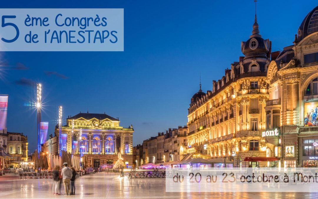 35ème Congrès de l'ANESTAPS à Montpellier !