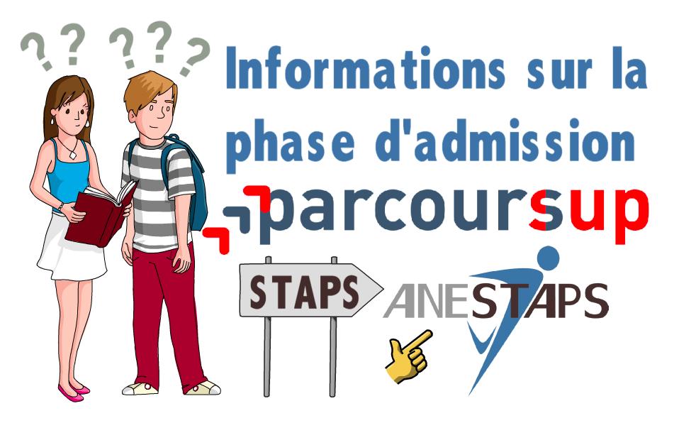 Phase d'admission Parcoursup !