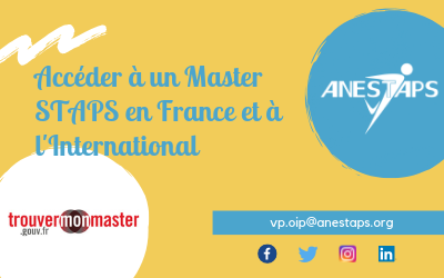 Accéder à un Master STAPS en France ou à l'International