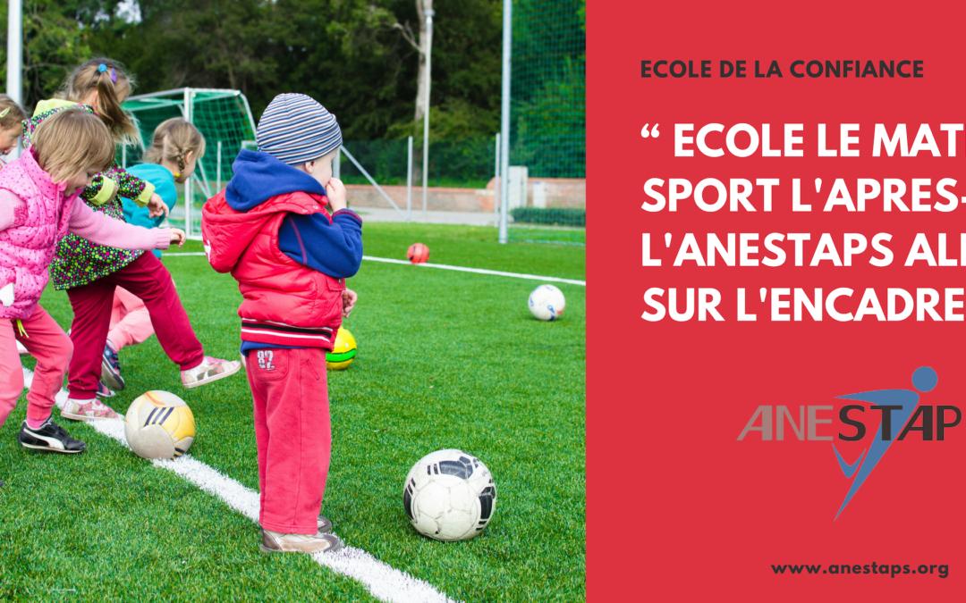 «Ecole le matin, sport l'après-midi » – l'ANESTAPS alerte sur l'encadrement