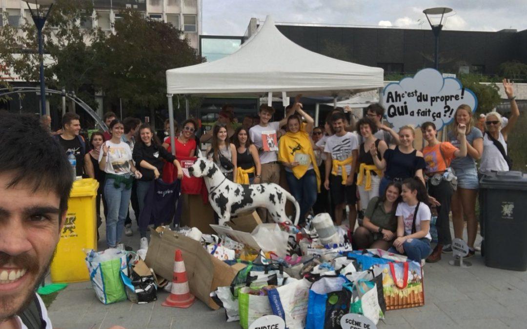 553 kg de déchets ramassés par les étudiants en STAPS !