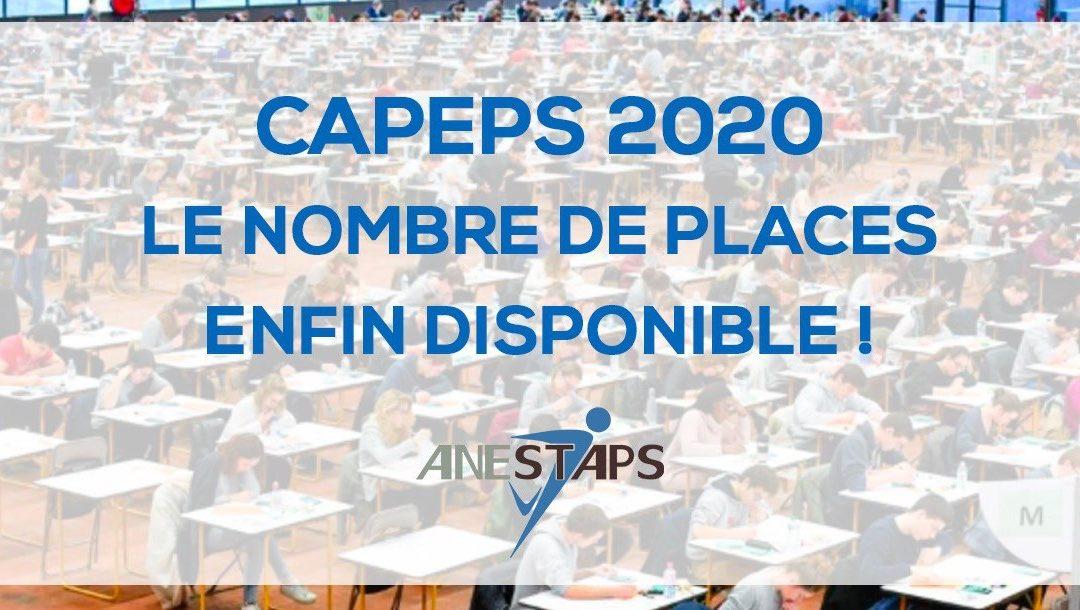 L'ANESTAPS souligne l'augmentation des places au CAPEPS mais ces annonces restent toujours insuffisantes !
