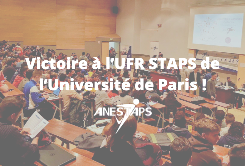 Victoire à l'UFR STAPS de l'Université de Paris !