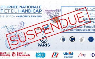 La 8e Édition de la Journée Nationale du Sport et du Handicap est suspendue.